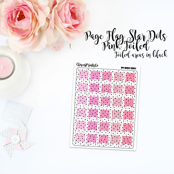 FOILED FUNCTIONAL - Multicolor Star Dots Page Flag