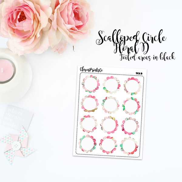 FUNCTIONAL - Floral Scalloped Circle