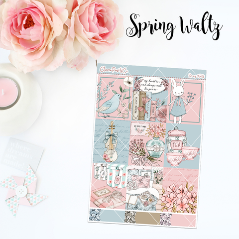 Standard Vertical Weekly Kit MINI  - Spring Waltz