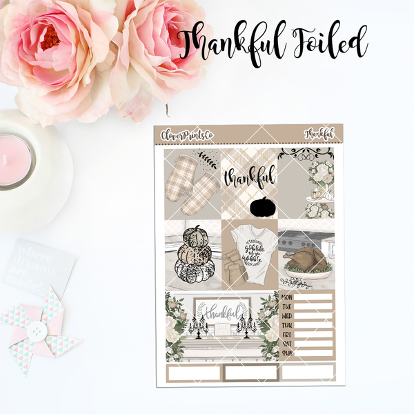 FOILED Standard Vertical Weekly Kit - Thankful