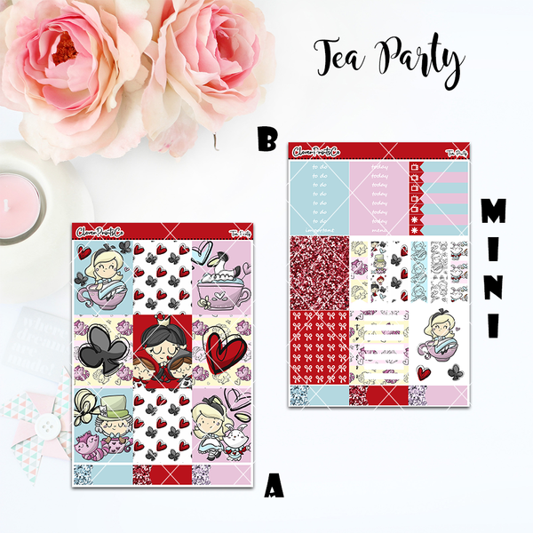Standard Vertical Weekly Kit MINI  - Tea Party