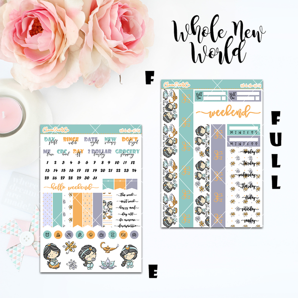 Standard Vertical Weekly Kit FULL - Whole New World