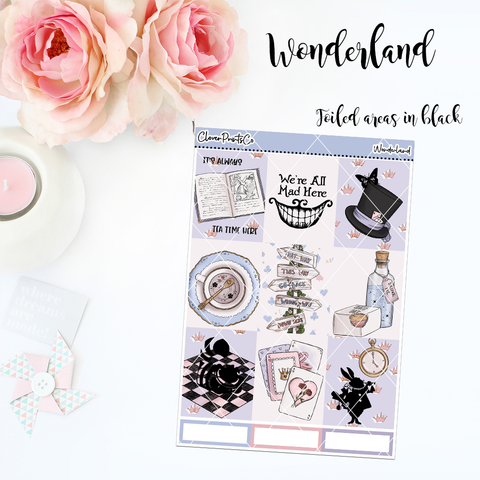 FOILED Standard Vertical Weekly Kit - Wonderland