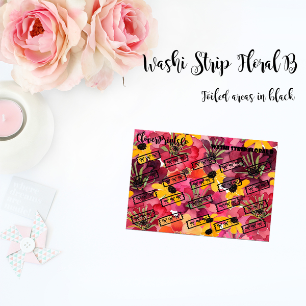 FOILED ICONS - Doodle Washi Strip Floral