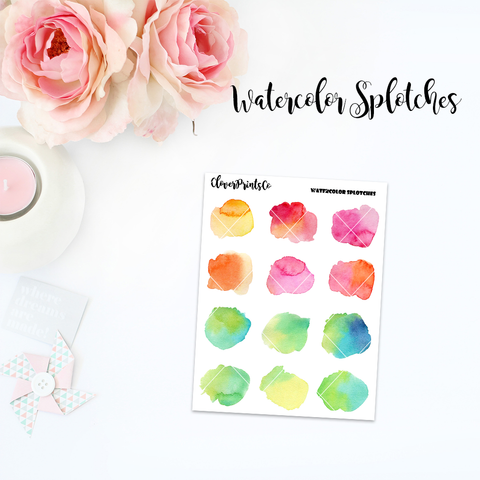 FUNCTIONAL - Watercolor Splotches