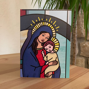 Virgin Mary & Baby Jesus Greeting Card