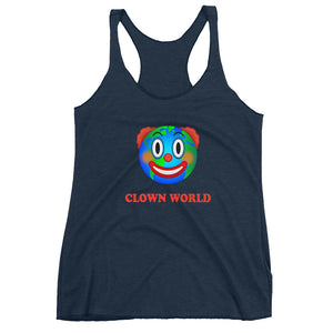 """Clown World"" Women's Racerback Tank"