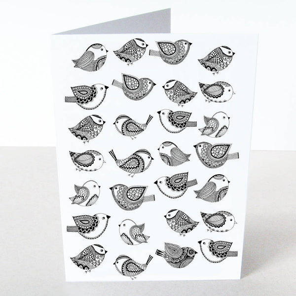 Bird Pattern Card