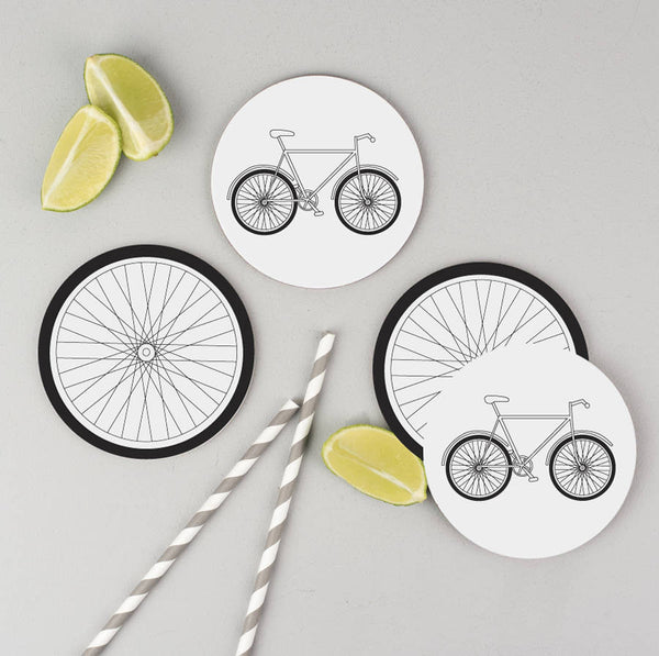 Bicycle Coasters Set Of Four