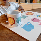 Animal Personality Placemat + Mug + Coaster Gift Set