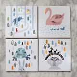 Three Billy Goats Gruff Ceramic Tile