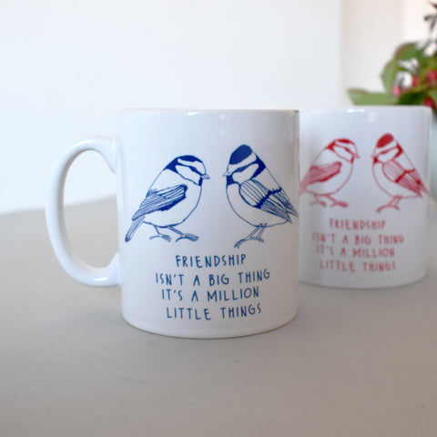 Personalised Friendship Bird Mug