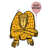 Happy Birthday Monkey Card