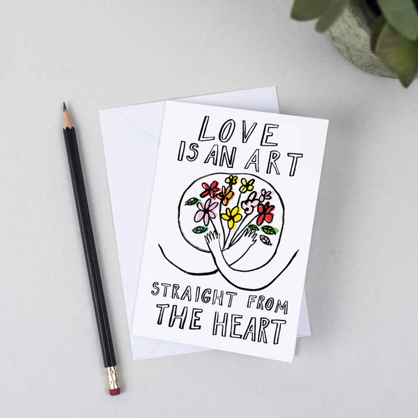 Love Is An Art Valentines Card