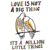 Love Is Not A Big Thing Valentines Card