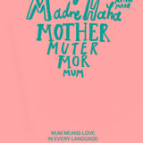 'Mum Means Love In Every Language' Card