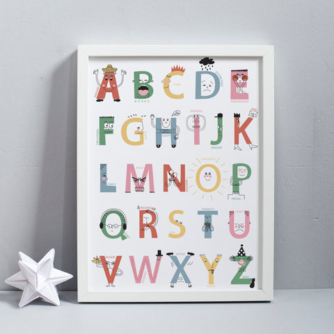 A-Z of Feelings Alphabet Print