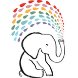 Elephant Rainbow Greeting Card