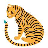 Tiger Friend Greeting Card