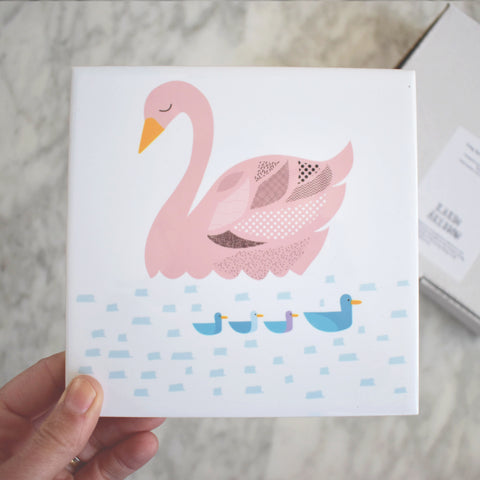 The Ugly Duckling Ceramic Tile