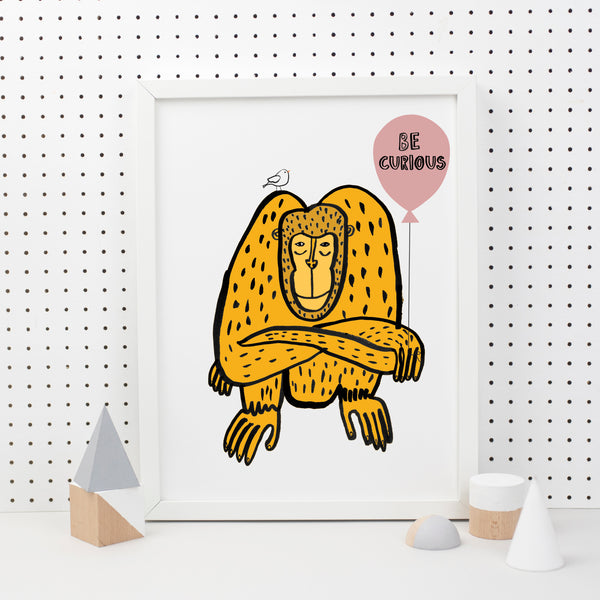 Orangutan Balloon Prints