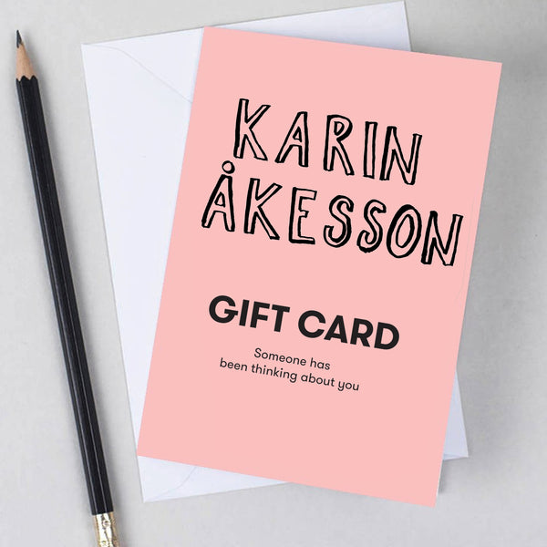 Gift Card Karin Åkesson Design, various amounts available
