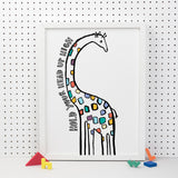 Hold Your Head Up High Giraffe Print