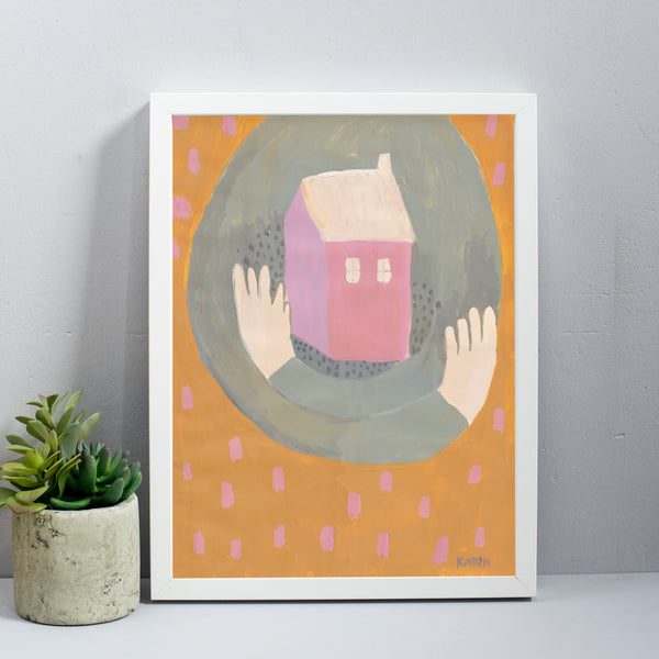Home Sweet Home Large Art Print