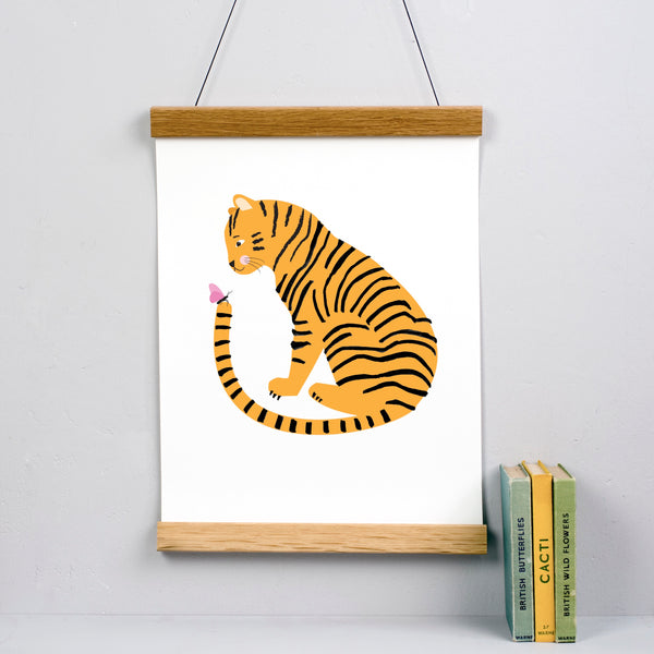 Tiger Friend Personalised Print