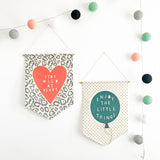 'Enjoy The Little Things' Fabric Wall Banner