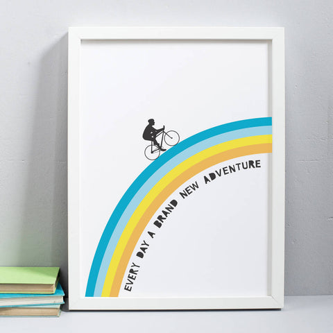 Cycling Rainbow Print
