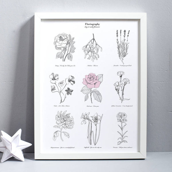 'Say it with flowers' Print