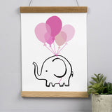 Flying Elephant Print