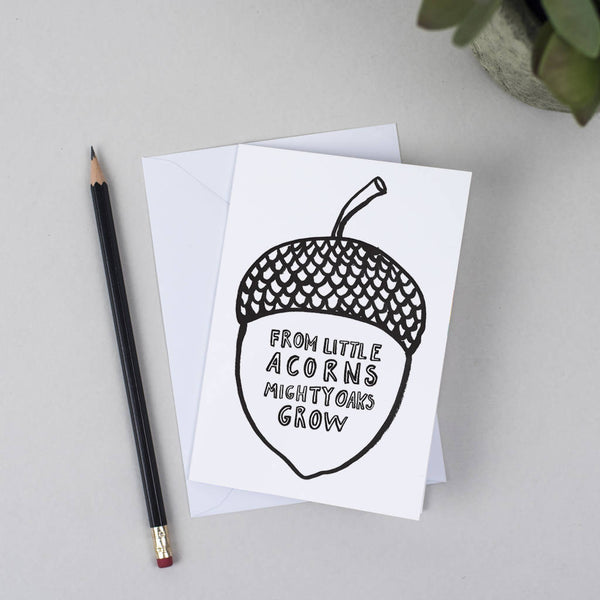 Acorn Greeting Card