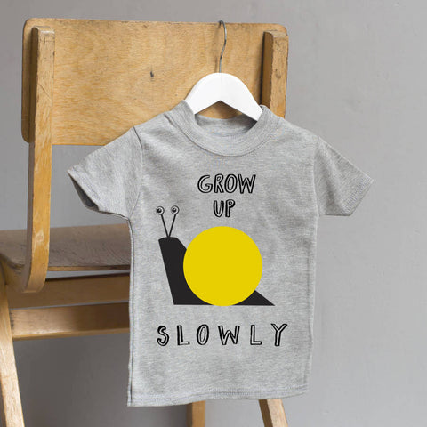Grow Up Slowly Yellow T Shirt