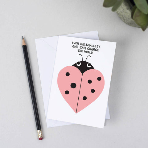 Ladybird Heart Greeting Card