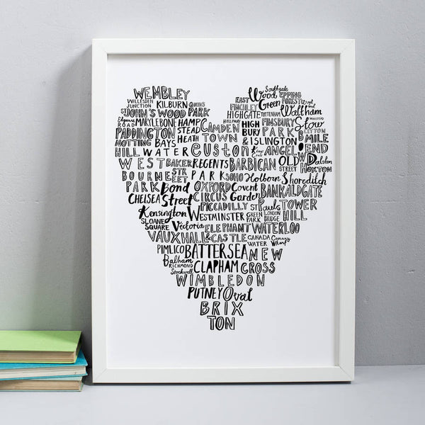 'My Heart Belongs To London' 30x40 cm Print