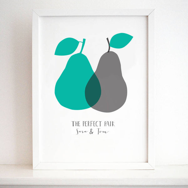 'The Perfect Pair' Personalised Print