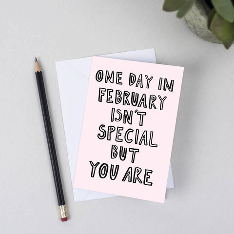 You Are Special Valentine Card