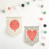 'Wild At Heart' Fabric Wall Banner