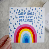 Rain Does Not Last Forever Rainbow Tile
