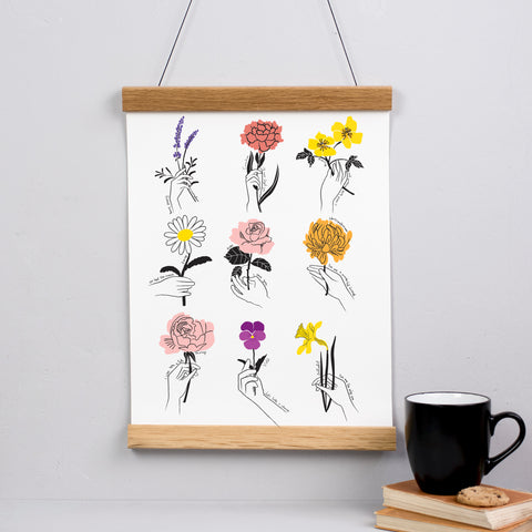 Say It With Flowers Floriography Print