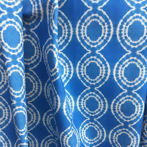 Sky Blue Circles Organic Cotton Fabric