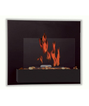 Serafin black coated ULC Ethanol Biofuel Fireplace