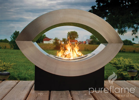 Ellipse of Fire Ethanol Biofuel Fireplace