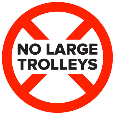 Large Trolley Stands are not made due to weight restrictions.