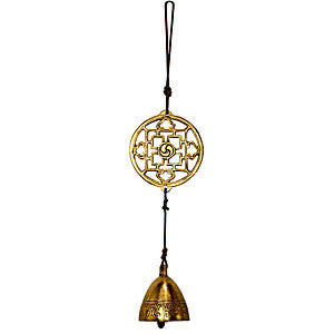 Brass Door Chime, Hanging Door Chime, Mandala Door Chime