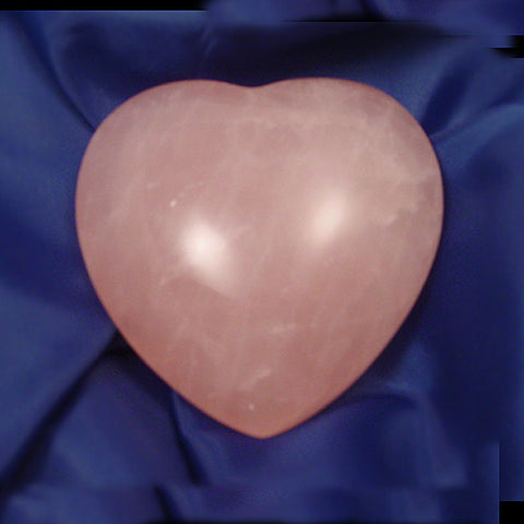 Rose Quartz Heart, Gemstone Heart, Crystal Heart