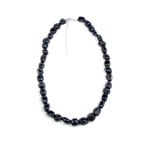 Shungite Nugget Bead Necklace, Shungite Jewelry, Shungite Necklace