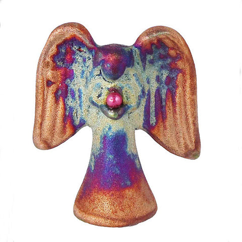 Raku Angel, Raku Spirit Angel, Raku Pottery, Raku Art